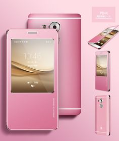 Cover Huawei Mate 8 Oatsbasaf Leather + Metal Window Flip Case