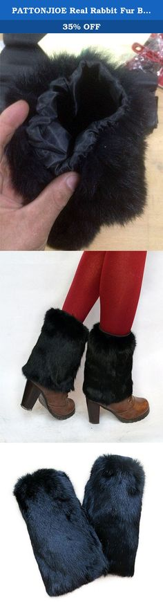 PATTONJIOE Real Rabbit Fur Boot Women's Leg Warmers Black. Stylish and practical boot warmers Perfect for your shoes and make you stylish Easily scrunched into boots and a good decoration. Material: real rabbit fur Size:11.8in, 15.7in, 17.7in Package Included: 1PC Fur Boot Warmer.