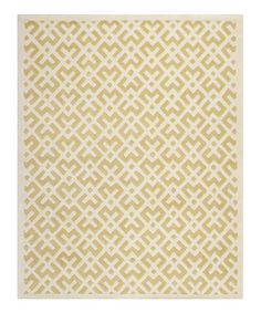 Look at this #zulilyfind! Light Gold & Ivory Meander Belle Wool Rug #zulilyfinds Really great find! I love this rug for mixing traditional/modern/mid-century. It has a retro-rattan look. I am getting a bit bored with chevron and ikat.