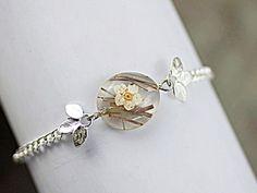 REAL GRASS bracelet - SILVER