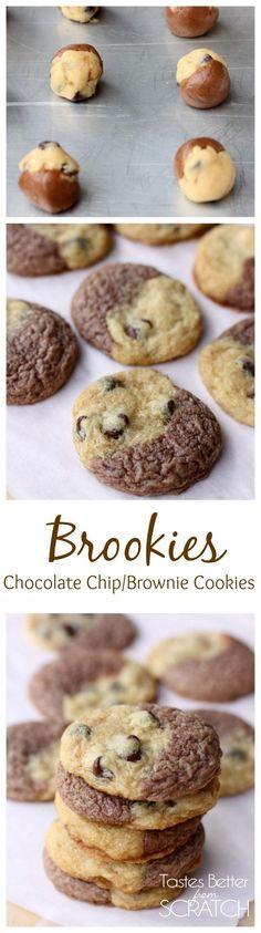 Chocolate Chip Brownie Cookies (Brookies) on TastesBetterFromScratch.com