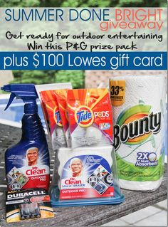 Click to enter to win a P Summer Outdoor Cleaning Prize Pack and $100 Lowes Gift Card #giveaway