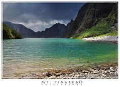 placid turquoise lake in Mt. Pinatubo, a stratoactive volcano in the Philippines (photo: Matt Le Blanc)