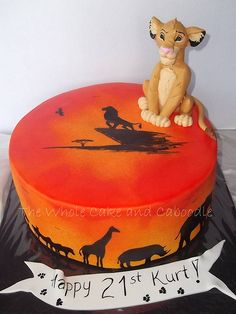 Lion king cake. I want this cake for my Birthday!!!