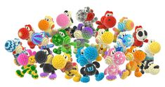 Yoshi's Woolly World - the different Yoshi patterns