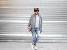 manteau gris doudou