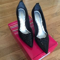 BCBGirls Patent Leather Pumps Perfect pumps for the stylish woman looking for comfort too! Like new condition, and have been closet kept in the box. BCBGirls Shoes Heels