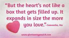 """More  movie quotes heart emoticon this one from Samantha, from the movie """"Her""""    Heart Emoticon, Romantic Movie Quotes, Family Quotes, Relationships, Romance, Author, Romance Film, Romances, Writers"""