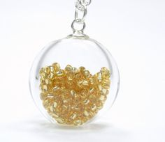City of Gold Collection  Gold Seed Bead Glass by TheEboutique, $30.00    love this and think it would be great for summer