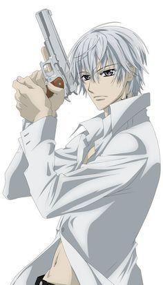 """Zero Kiryu from """"Vampire Knight"""". He's looking bad ass with that gun! Zero Kiryu from """"Vampire Knight"""". He's looking bad ass with that gun! Vampire Knight Zero, Hot Anime Boy, I Love Anime, Awesome Anime, Anime Guys, Chica Anime Manga, Anime Kawaii, Anime Art, Manga Art"""