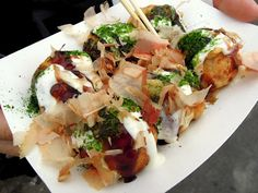 Takoyaki at the Richmond Night Market in British Columbia. Nearly as good as ones made in a restaurant
