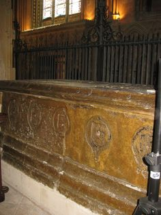 grave of katherine swynford, last wife of john of gaunt; lincoln cathedral, england