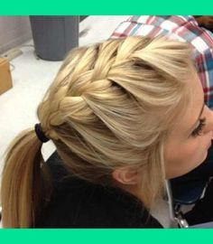 French braid with pony tail