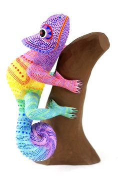 Oaxacan Wood Carvings Narciso Gonzalez Chameleon... only $295! >.