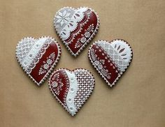 Lace Cookies, Candy Cookies, Valentine Cookies, Cut Out Cookies, Cupcake Cookies, Valentines, Cupcakes, Gingerbread Ornaments, Christmas Gingerbread House