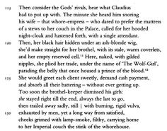 """The brothel-keeper from this passage of the Peter Green translation of Juvenal's Satire 6 shows up in one of the 45 verses of Bob Dylan's song """"Tempest."""" I first wrote about Dylan's use of Juvenal in two posts on my blog back in 2009. Check out the link."""