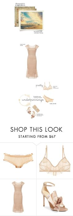 """""""pretty"""" by paperdollsq ❤ liked on Polyvore featuring Only Hearts, LUISA BECCARIA, Jimmy Choo, J. Furmani, falala and prettyunderpinnings"""