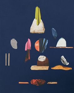 Paintings of rocks by Swedish artist Malin Gabriella Nordin