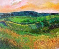 'This Land Is Our Land' -Martina Furlong Pastel Paintings, Beautiful Paintings, Landscape Art, Landscape Paintings, Cityscape Art, Biomes, Art Plastique, All Art, Art Images