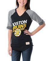 Mitchell and Ness Boston Bruins Comeback Girls Tee Shirt
