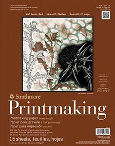 "Strathmore 400 Series Printmaking Pad, Heavyweight, 8""x10..."