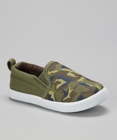 Take a look at this Shocked Olive & Brown Camo Shoe on zulily today!