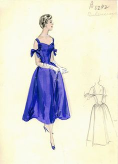 Looks so Grace Kelly and I'd loved to wear it to some huge party :) Bergdorf Goodman Archives. Coctail & Evening Dresses 1950-69