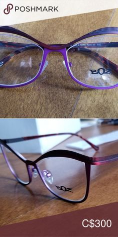 Eyeglass frame BOZ - Falbala Boutique highend eyewear BOZ Other Eyeglasses, Eyewear, Boutique, Best Deals, Purple, Frame, Closet, Things To Sell, Picture Frame