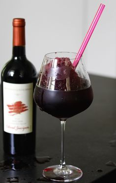 Red Wine Slushie. A drink for a Friday afternoon. Recipe by America's Table.