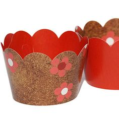 Confetti Couture Party Supplies 36 Dessert Skirtz Reversible Cupcake Wrappers for Bakery Packaging and Decoration, Brown Red Coral White Floral Confetti Couture Party Supplies http://www.amazon.com/dp/B015HQEPL6/ref=cm_sw_r_pi_dp_6IhZwb0R86AT7 #rustic #party #supplies