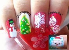 Winter Christmas Nail designs