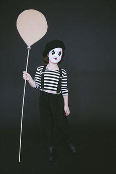 disfraz fácil de mimo para carnaval