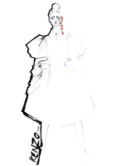 Polly Clarkson - Fashion Illustration - Kenzo