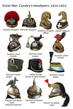 ww1 - Cavalry's headgears - 1914-1915 by AndreaSilva60 on DeviantArt