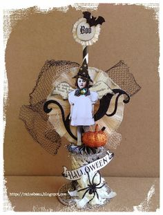 Over the Rainebeau: October! Halloween! Spoolie Dolls!