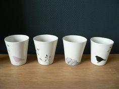 Tasse en porcelaine par Virginiegallezot sur Etsy, $17.00