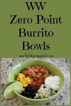 Enjoy my Arizona Burrito Bowls, made with riced cauliflower and ground turkey. T… Enjoy my Arizona Burrito Bowls, made with riced cauliflower and ground turkey. They're tasty and zero points on the Weight Watchers Freestyle program. Weight Watchers Lunches, Plats Weight Watchers, Weight Watchers Meal Plans, Weight Watchers Diet, Weight Watcher Dinners, Weight Watchers Smart Points, Weight Watchers Program, Weight Watchers Reviews, Weight Watchers Dressing