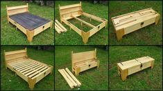 Parece un simple cofre o un banco con espacio de almacenamiento, ¡pero definitivamente no es un mobiliario ordinario! Este es un proyecto de cama de bricolaje que ahorra espacio que probablemente desee considerar. ¿Buscas un diseño de cama que ahorre espacio? Esta cama en una caja es adecuada para aquellos que necesitan una cama extra …