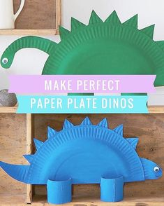 Paper plate dinos