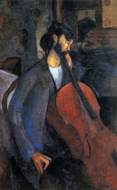 Amadeo Modigliani - The Cellist