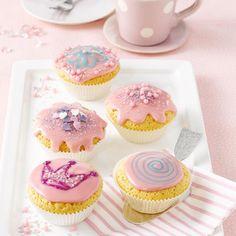 Prinzessinnen-Muffins                              -                                  Rosa verzierte Muffins für kleine und große Prinzessinnen