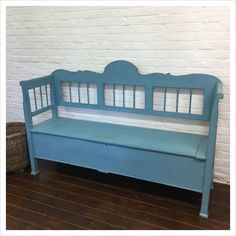 Beautiful Hungarian antique pine storage bench with a lifting benchtop providing storage underneath the seat. This is an original Hungarian settle bench which has been repainted in blue paint. Industrial Decor, Industrial Furniture, Industrial Interior Living Room, Hotel Interiors, Industrial Livingroom, Industrial Interior Bedroom, Industrial Interiors, Industrial Bathroom, Interior Decorating Styles