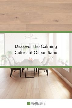 Invite the soft texture and calming colors of a barefoot beach walk into your home with Carlisle's Ocean Sand White Oak flooring from the Casual Collection. #homeinspo #redesign #home Oak Flooring, Wide Plank Flooring, Sand Floor, Barefoot Beach, White Oak Floors, Calming Colors, Beach Walk, Carlisle, Outdoor Furniture