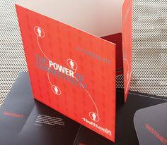 Corporate Image: Custom printed 3-ring binders, pocket folders and sales boxes