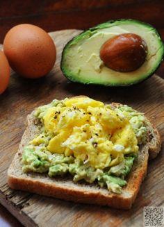 30. #avocat oeuf pain grillé - 41 #idées de petit #déjeuner délicieux…