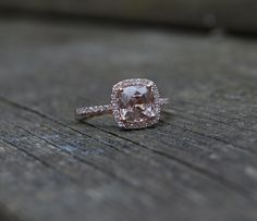 Perfection once again...Cushion peach champagne sapphire in 14k rose gold by EidelPrecious