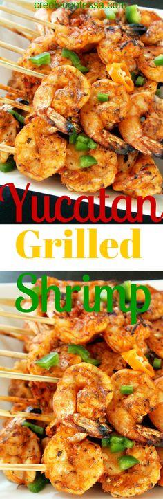 Yucatan Grilled Shrimp -Creole Contessa