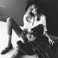 "Frida I'm In Love"" Frida Gustavsson and Emil Myrbäck by Jimmy Backius for Elle Sweden September 2012 - Google Search"