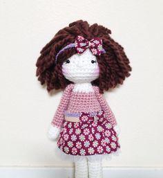 Handmade Crochet Doll & French bulldog.. by LinaMarieDolls on Etsy