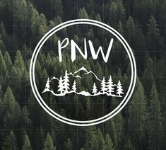 PNW Vinyl Decal | Pacific Northwest Vinyl Decal | Yeti Decal | Car Decal | Upper Left USA | Water Bottle Decal | PNW | Oregon | Idaho